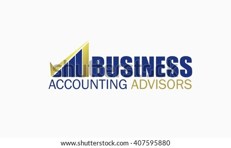 Accounting and Financial Logo - stock vector