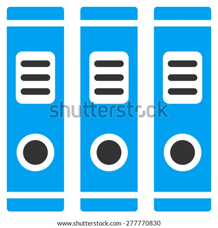 Accounting books icon. This isolated flat symbol use modern corporation light blue and gray colors. - stock vector