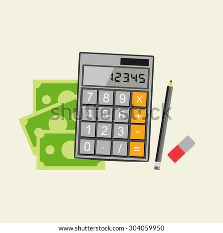 Accounting concept. Budget calculation concept. - stock vector