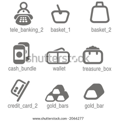 Accounting icons set 2. Check my portfolio for many more images from this series. - stock vector