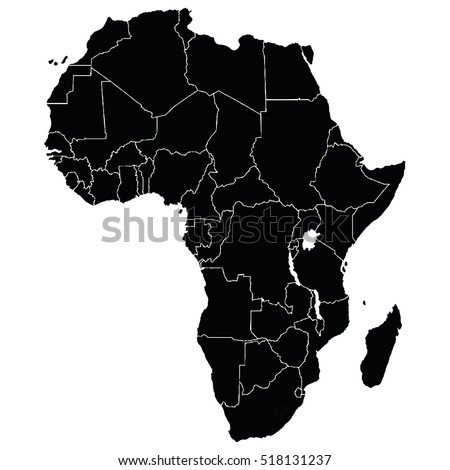 east africa map vector