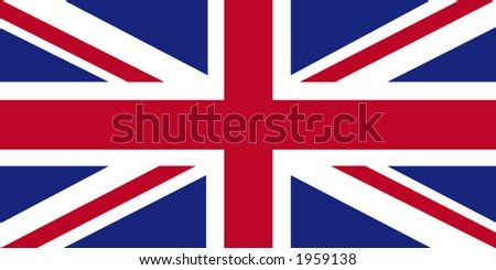 Accurate vector drawing of United Kingdom's flag in terms of size, colour, and scale. - stock vector