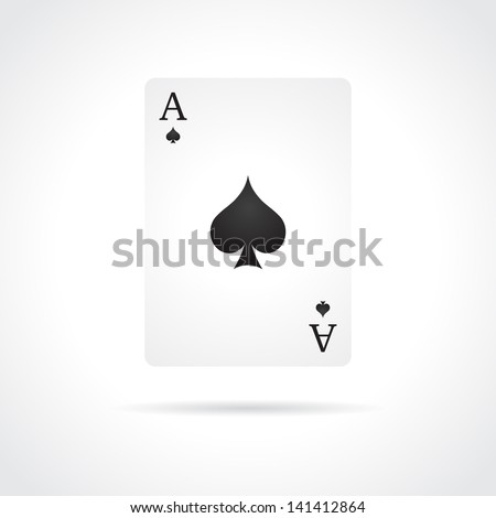 Ace of Spades isolated on white background - stock vector