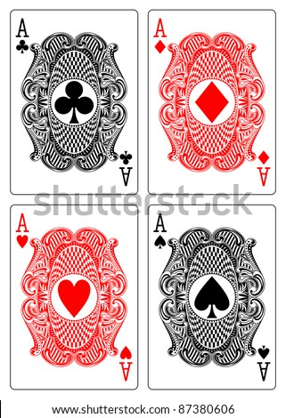 aces club diamond heart spade - stock vector