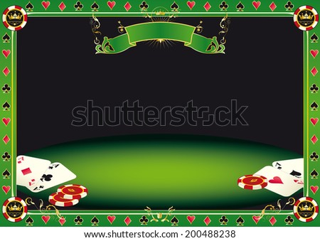 Aces on the table. A background with gambling elements (cards and Gambling Chips) on a table. It's ideal to promote a tournament of poker. - stock vector