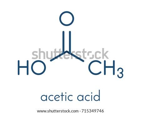 Acetic Acid Molecule Vinegar Aqueous Solution Stock Vector 715349746