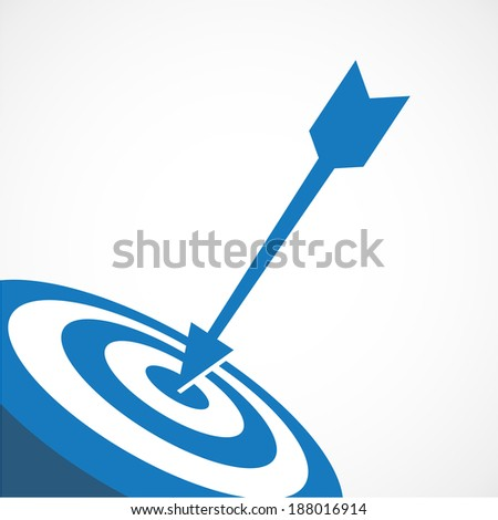 Achieving goal.  Vector image over white background.  - stock vector