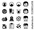 Acne icon set Vector illustration collection