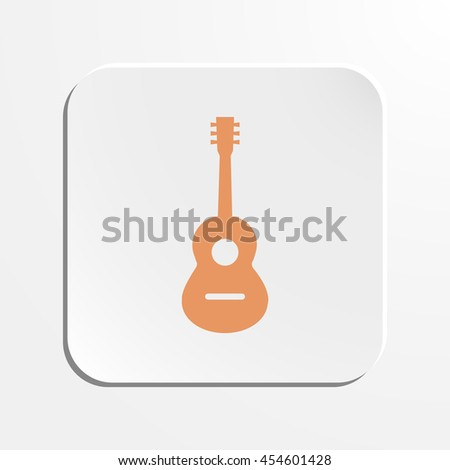 Acoustic guitar sign icon. Music symbol