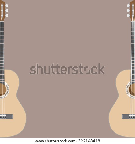 Acoustic guitar theme, suitable for gig or concert poster, vector