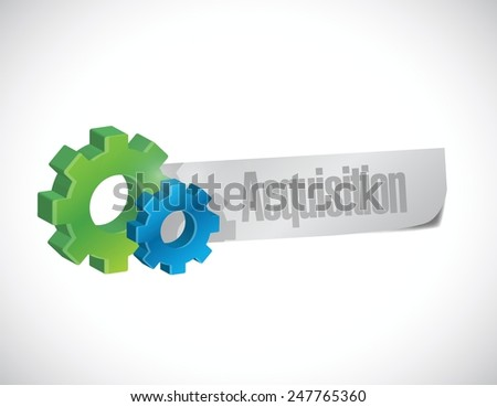 acquisition gear sign illustration design over a white background - stock vector