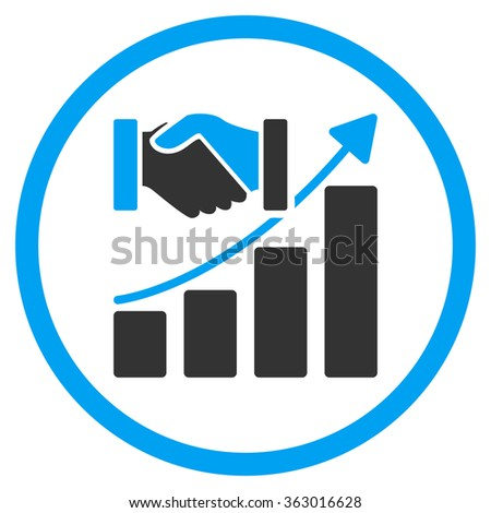 Acquisition Growth Icon - stock vector