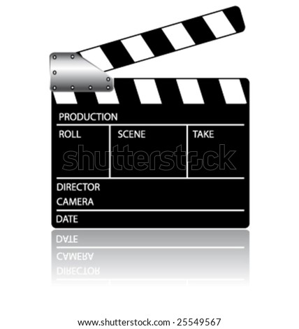 Action clapperboard vector