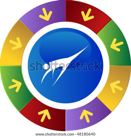 Action posing stick figure isolated web icon on a background.