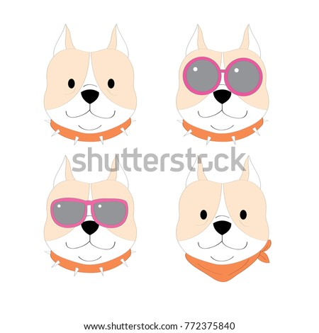Most Inspiring Pitbull Chubby Adorable Dog - stock-vector-actions-cartoon-cute-pitbull-dog-vector-772375840  Graphic_331965  .jpg