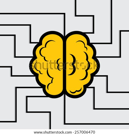 Activate your brain - stock vector