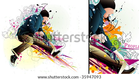 active man vector illustration