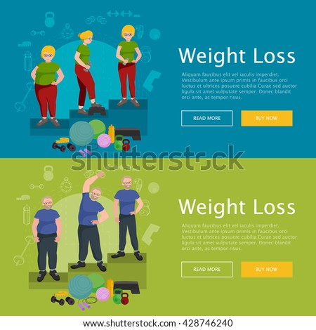 Active old man success weight loss isolated, slim senior workout, diet and sport wellness concept vector, people weight loss sport in gym doing exercise, active lifestyle.  - stock vector