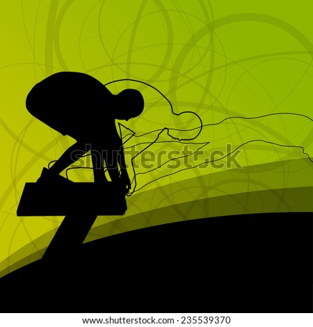 Diving Silhouette Stock Images Royalty Free Images