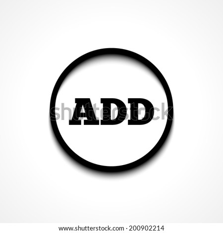 ADD icon - stock vector