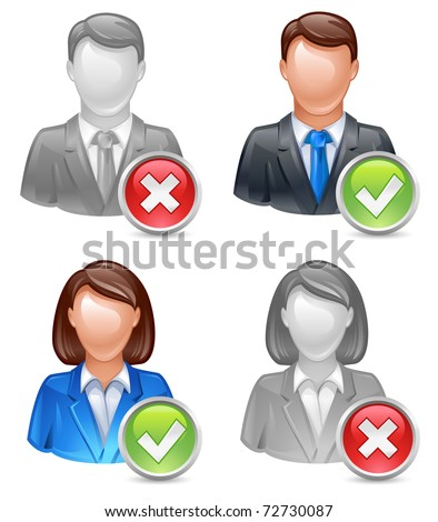 add or delete friend, user, member icon - stock vector