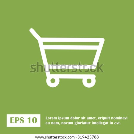 add to cart. green icon. eps 10. - stock vector