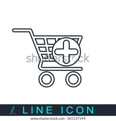 add to cart icon - stock vector