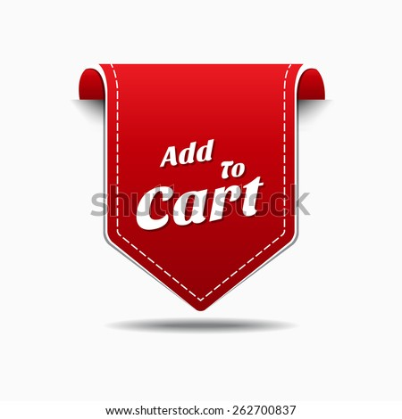 Add To Cart Red Vector Icon Design