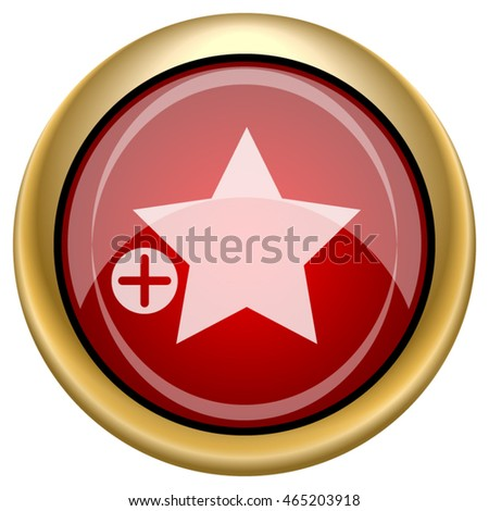 Add to favorites icon. Internet button on white background. EPS10 vector.