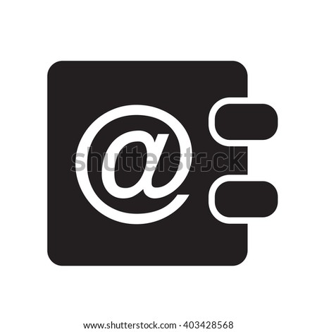 address book icon Illustration design