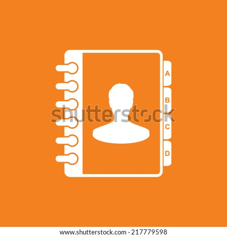 Address book icon - Vector - stock vector