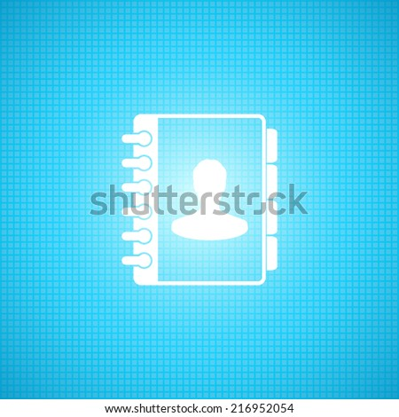 Address book, Phone book icon - Vector - stock vector