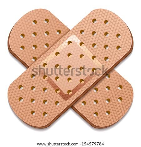 adhesive bandage 10eps - stock vector
