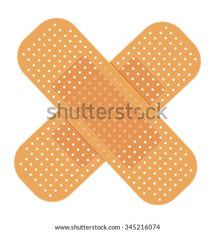 adhesive bandage on white. vector illustration - stock vector
