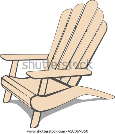 Adirondack Beach chair. Vector illustration. - stock vector