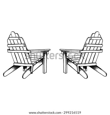 Adirondack Chairs Hand Sketch Stock Vector 299216519 - Shutterstock
