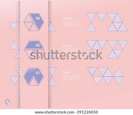Adjustable Lines Textured Flat Menu Elements - stock vector