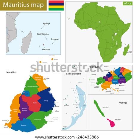 Administrative Division Republic Mauritius Stock Vector 246435886