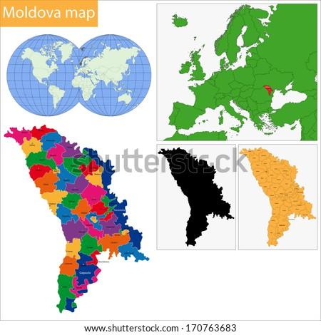 Administrative Division Republic Moldova Stock Vector 170763683