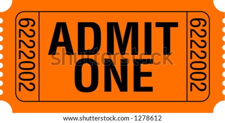 Admit One Ticket - stock vector