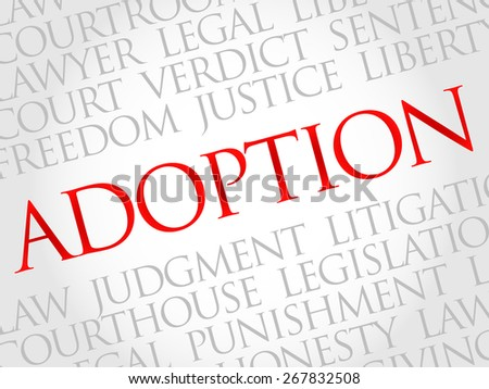 Adoption word cloud concept - stock vector
