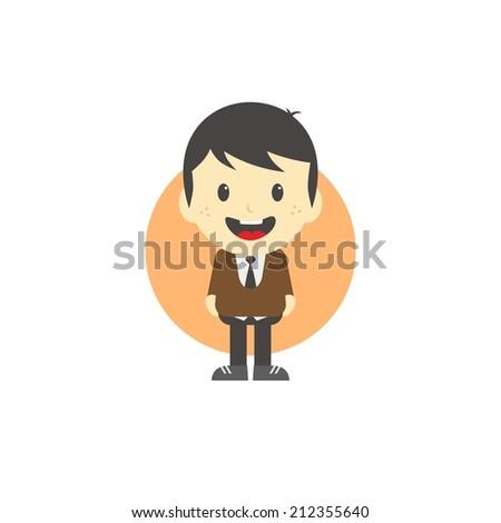 adorable boy cartoon character - stock vector