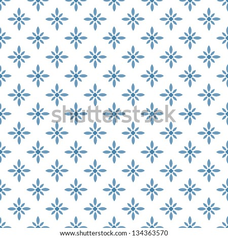 Adorable Floral Geometric Seamless Vector Pattern - stock vector