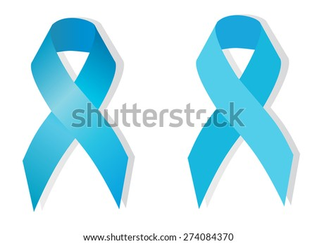 Adrenocortical carcinoma awareness ( light blue ), prostate cancer awareness (sky blue) also symbolizes the problem of violence against children - stock vector