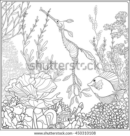 Coral color stock images royalty free images vectors for Coloring pages of coral reefs