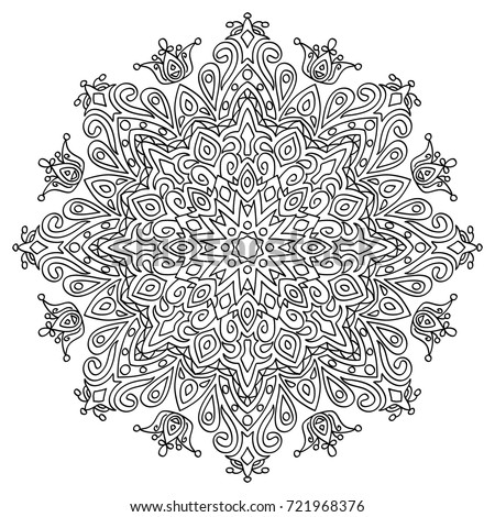 Adult Coloring Book Hand Drawn Background Stock Vector 721968376 ...