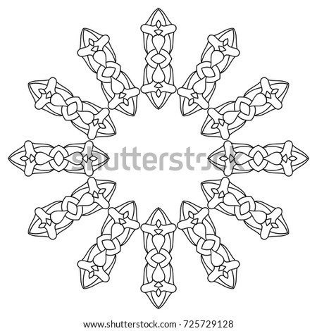 Adult Coloring Book Hand Drawn Background Stock Vector 727950142 ...
