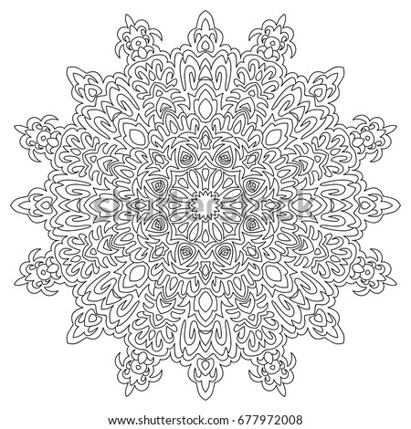 Outline Mandala Coloring Book Decorative Round 422003203