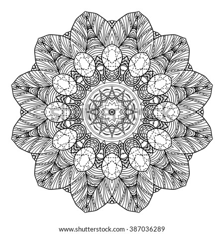 Zendoodle Coloring Pages Gorgeous Adult Coloring Page Mandala Vector Art Stock Vector 387036289 Decorating Design