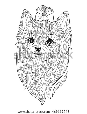 Teacup Yorkie Coloring Pages